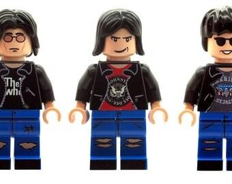 Custom Designed Minfigures - American Rock Band Members The Ramones Printed On LEGO Parts