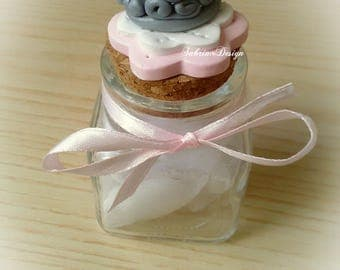 Princess silver crown polymer clay favor baptism baby shower first birthday