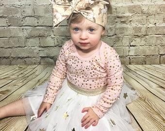 Unicorn Headwrap- Unicorn Headband; Unicorn Bow; Headwrap; Head Wrap; Baby Headband; Toddler Headband; Baby Headwrap; Toddler Headwrap; Boho