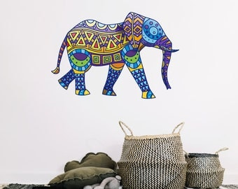 Elephant Mosaic Wall Sticker