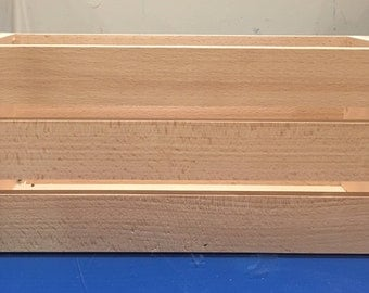 Solid Wooden Crate - 34x13x14cm
