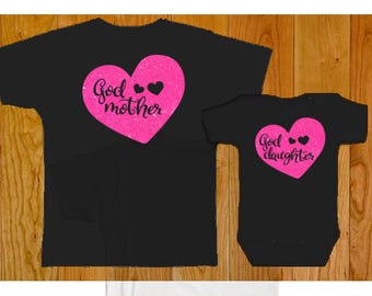 Godmother Goddaughter Matching Shirt Set - Goddaughter Gift - Godmother Gift - Goddaughter Tshirt - Godmother Shirt - Godchild Gifts