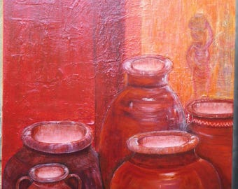 "Acrylic painting ""The potteries"""
