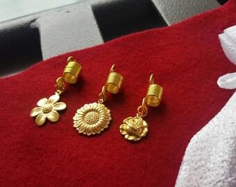 Flower Power Loc / Braid Jewelry Set.