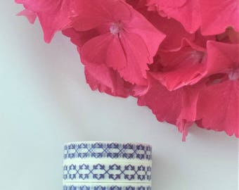 Blue and White patterned washi tape