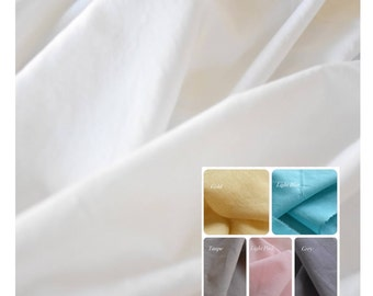 Voile fabric -  100 % cotton - White sheer fabric - Fabric by yard