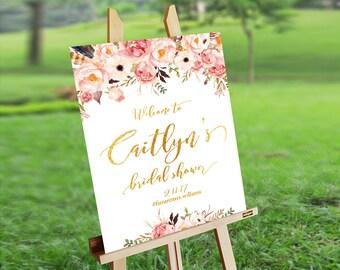 bridal shower sign bridal shower welcome sign bridal shower decoration printable welcome sign