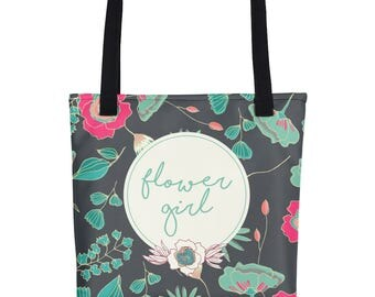 Tote For Flower Girl | Flower Girl Tote | Flowergirl Tote Bag | Flower Girl Tote Bag | Bridal Party Tote | Wedding Tote Bag Bridal Gift Tote