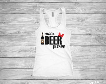 More Beer Please shirt - Minnie Mouse - Epcot Food and Wine - Disney World - Ladies