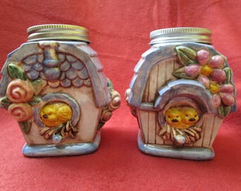 Birdhouse Salt and Pepper Shaker Set