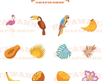 Clip arts Tropical Set