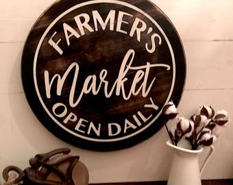 Farmers Market Sign | Market Sign | Farmhouse Sign | Farmhouse Style