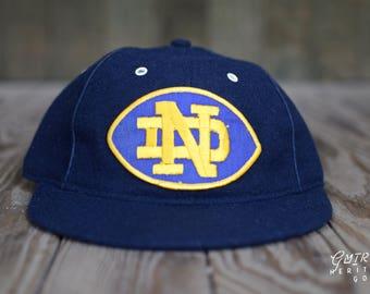 Notre Dame Hat - Vintage Notre Dame Hat | Fighting Irish Hat | Notre Dame Football | Retro Notre Dame Hat | ND Hat | Gift for ND Dad