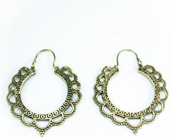 Brass hoop earrings Indian