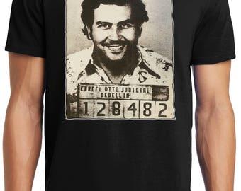 PubliciTeeZ Big and Tall King Size Pablo Escobar Mugshot T-Shirt