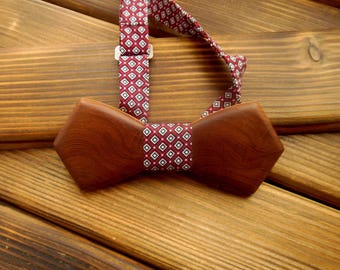 Wood bow tie Xmas Brother Husband Boyfriend gift Holiday bow tie Wedding Bow Tie Wood anniversary gift Groomsmen Wooden bowtie Bowtie men