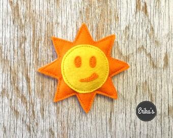 Sun shaped Toy with organic catnip - happy sun