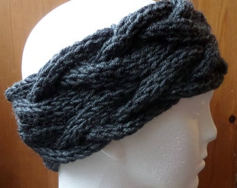 Hand knitted Cable Head warmers/Headbands