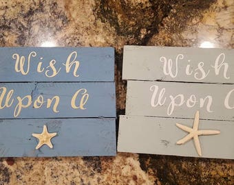 Wish Upon a Starfish Pallet Art Signs