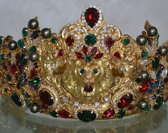 """CROWN """"KING ARTHUR"""" комплект с подвеской-брошь"""
