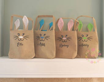 Burlap Easter Bag - Personalized