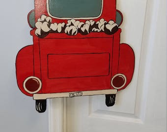 Custom Old Red Pick-up Truck loaded with Cotton - Put your name on the tailgate!