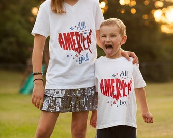 All American Girl/Boy Shirt Youth/Toddler/Infant