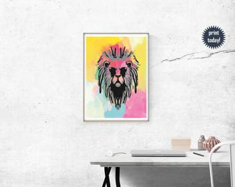 Colorful Lioness Art Print