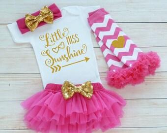 Baby Girl, Little Miss Sunshine Bodysuit, Coming Home Baby Girl Outfit, Baby Coming Home Shirt, Baby Shower Gift, Cute Baby Girl Bodysuit,