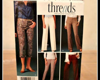 Vintage Simplicity Pattern #4366 Easy to Sew Misses/Miss Petite Pants, Size K5, Threads Magazine Collection