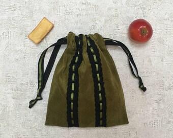 smallbag unique velvet milleraie & stripe - reusable bag - zero waste