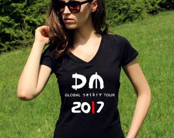 Depeche Mode T Shirt Depeche Mode Shirts Global Spirit Tour 2017 Lady Tee Shirt Rock Shirt Women Band Shirt