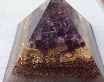 3.25 inch Orgonite® Pyramid with Amerthyst