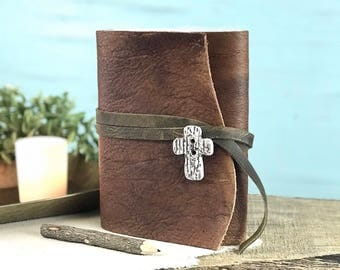Personalized Leather Prayer Journal Free Shipping, Leather Prayer Notebook, Leather Prayer Diary, Personalized Leather Journal