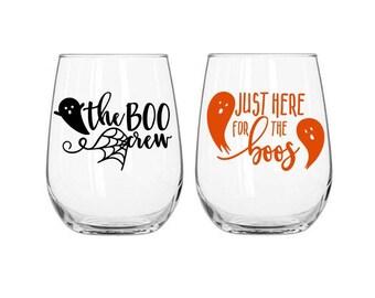 Halloween Decals - Halloween Wine Glass Decal - Halloween Party Decor - Ghost Decal - DIY Halloween Decal - Halloween Party DIY - Cup Decals