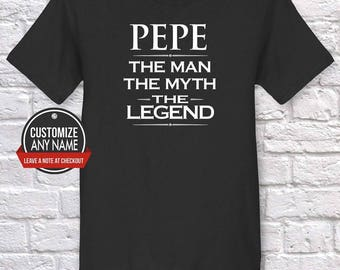 Pepe The Man The Myth The Legend, Grandpa Gift, Pepe Birthday, Father's Day, Pepe Tshirt, Pepe Gift Idea, Baby Shower, Pregnancy