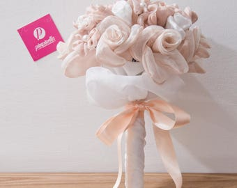 Bouquet rose and white fabric