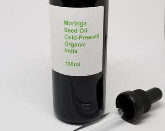 Moringa Oil (Moringa oleifera) Organic India Ben Oil, Behen Oil
