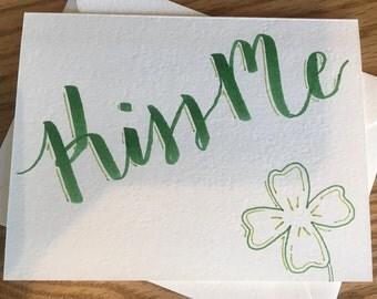 Greeting Card: 'Kiss Me (I'm Irish)'
