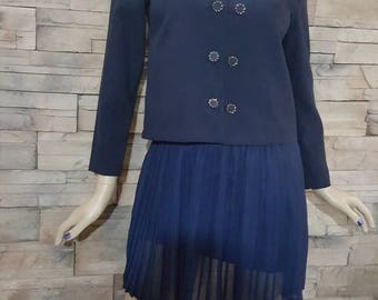 Sailor jacket/women's navy jacket/navy blazer/blue marine coat