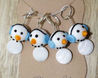 Snowman Stitch Markers