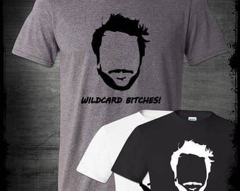 Wildcard Bitches Charlie Kelly Shirt Face Outline Funny Wild Card Always Sunny In Philadelphia Tribute Paddy's Pub Bird Law Kitten Mittens