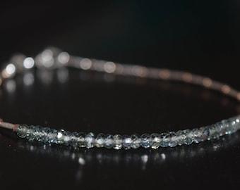 Sapphire Bracelet~ Dainty Stacking Bracelet~ September Birthstone Bracelet~ Gift Ideas for Her