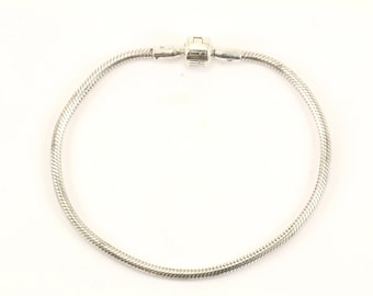 Vintage Biagi Snake Barrel Clasp Bracelet 925 Sterling BR 2173