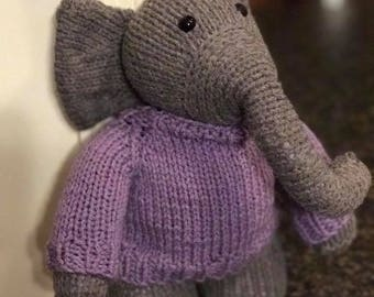 Elephant with Sweater - Made to Order