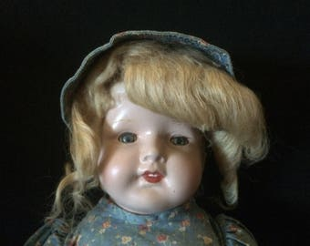 Vintage Redressed Composition Doll - 1930
