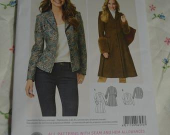 Burda 6570 Misses Coat and Jacket Sewing Pattern  - UNCUT - Size 8 - 18