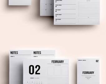 B6 TN Insert Printable | B6 TN Size | B6 TN | Travelers Notebook Insert | Printable Insert | MO2P