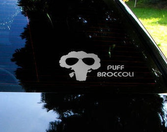 Puff Broccoli Car Decal