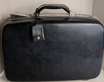 Vintage Samsonite Vintage Suitcase Vintage Luggage Vintage Blue Samsonite Blue